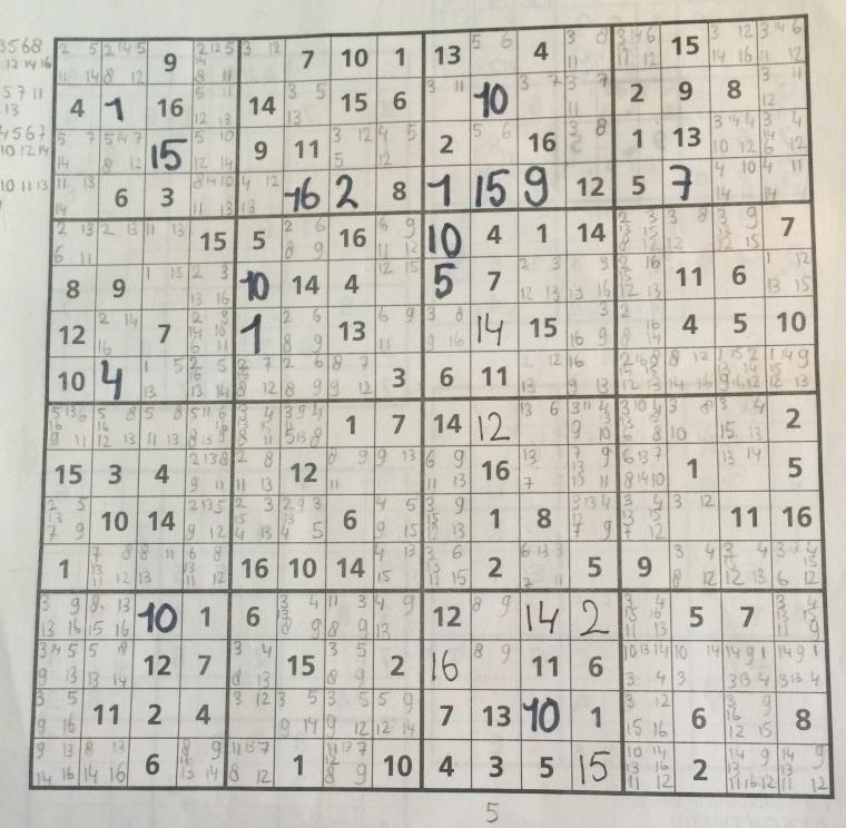 Moeilijke sudoku