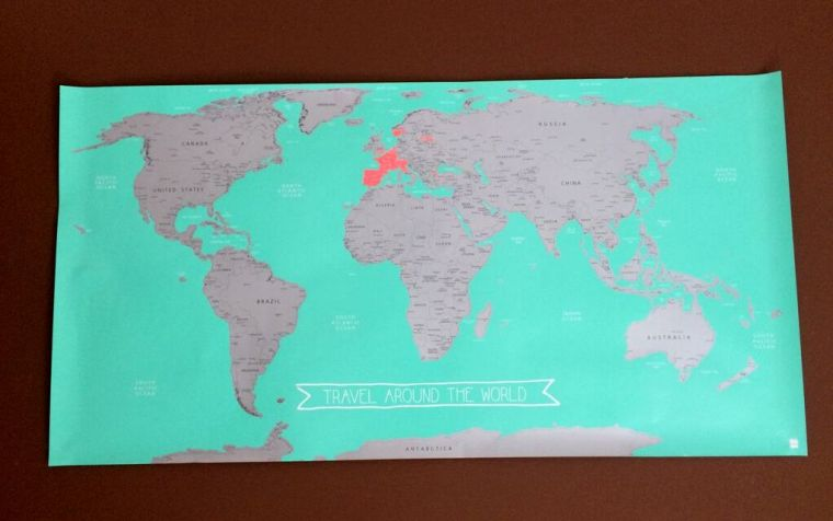 Krasbare Wereldkaart HEMA