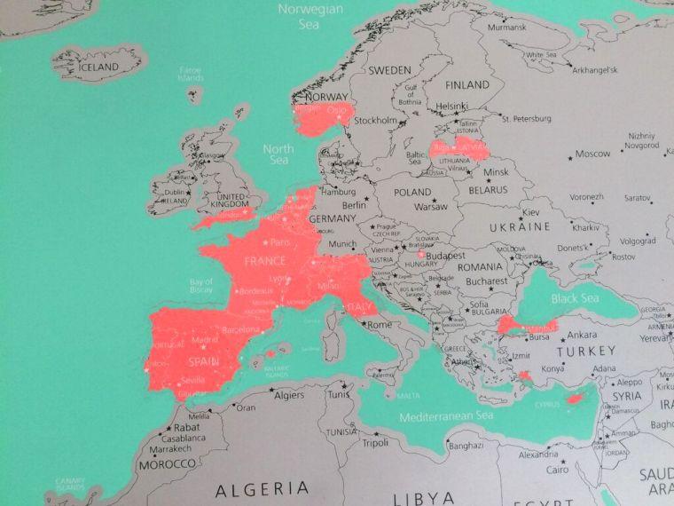Krasbare Wereldkaart HEMA - Europa